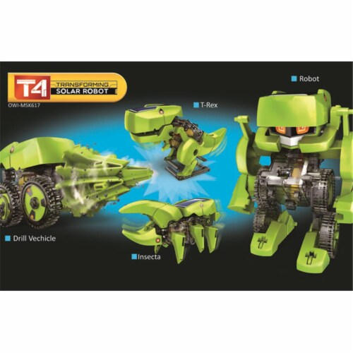 OWI  T4 Transforming Solar Robot Perspective: front