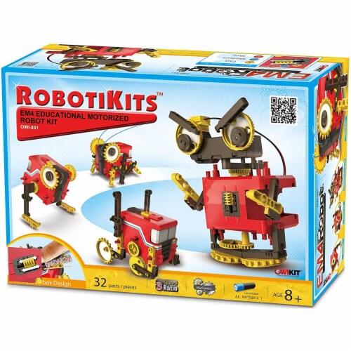 OWI  4 Mode EM4 Motorized Robot Kit Perspective: front