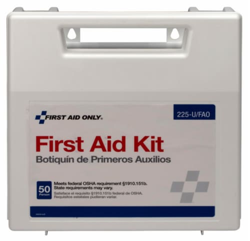First Aid Only 50 Person First Aid Kit 197 count - Case Of: 1; Each Pack Qty: 197; Total Perspective: front