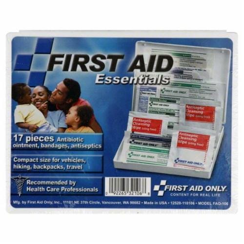 First Aid Only 17 Piece First Aid Kit Perspective: front