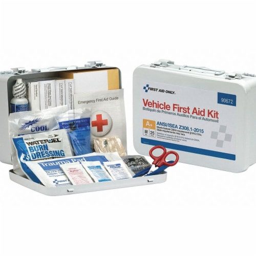 First Aid Only First Aid Kit,25 People,Metal,116 Comp. Perspective: front