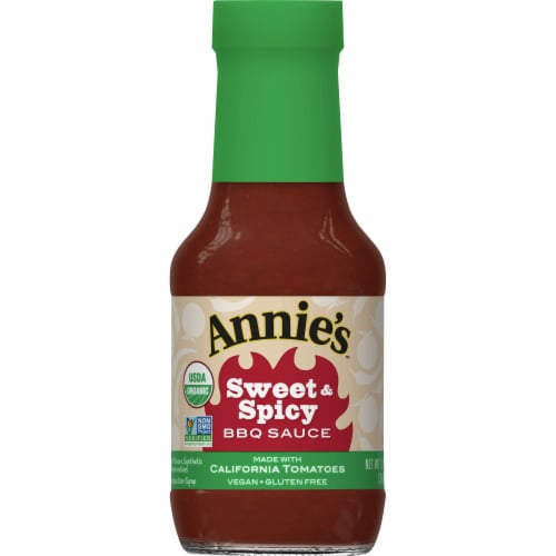 Annie's Organic Sweet & Spicy BBQ Sauce Perspective: front