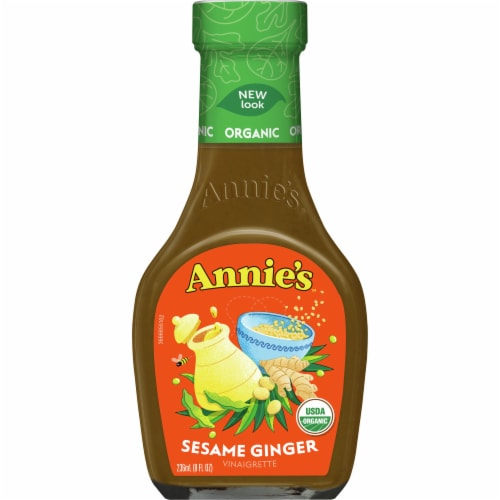 Annie's Organic Sesame Ginger Vinaigrette Dressing Perspective: front