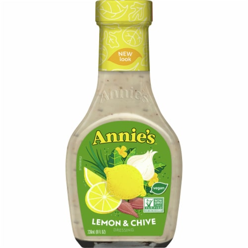 Annie's Lemon & Chive Dressing Perspective: front