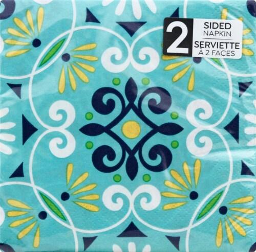 Sensations Moroccan Tiles 2-Sided Beverage Napkins Perspective: front