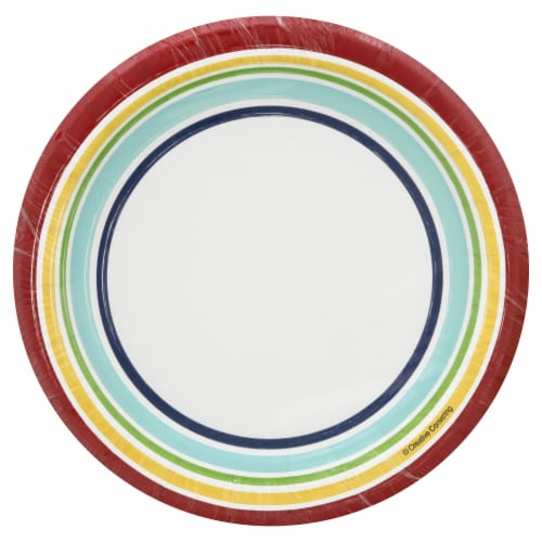 Sensations Performa Hip Hip Hooray Lunch Plates Perspective: front