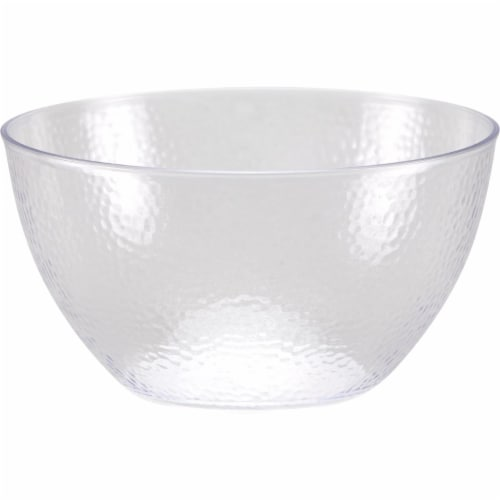 Creative Converting 347886 60 oz Clear Pebble Plastic Bowls - 12 Count Perspective: front