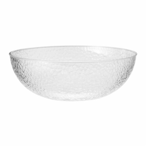 Creative Converting 347887 160 oz Clear Pebble Plastic Bowls - 12 Count Perspective: front