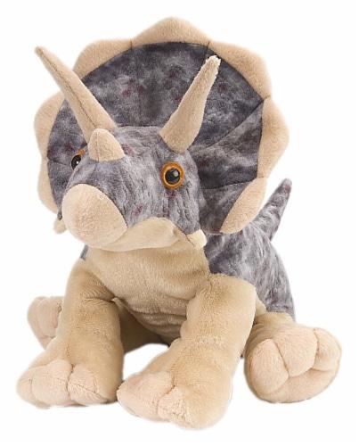 Wild Republic Triceratops Cuddlekins Plush Perspective: front
