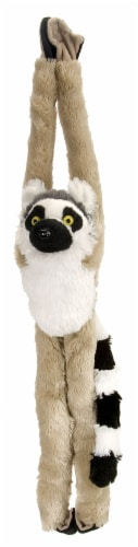 Wild Republic Hanging Monkey Ring Tailed Lemur Plush Perspective: front