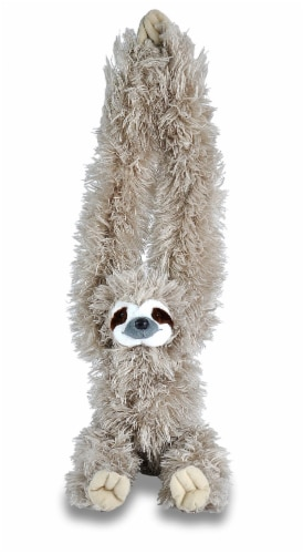 Wild Republic Hanging Monkey Three Toed Sloth Plush Perspective: front
