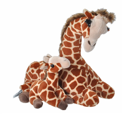 Wild Republic Cuddlekins Mom & Baby Giraffe Plush Perspective: front