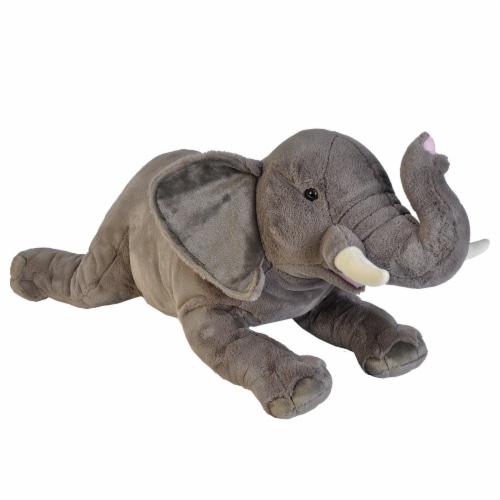 Wild Republic Cuddlekins Jumbo Elephant Plush Perspective: front