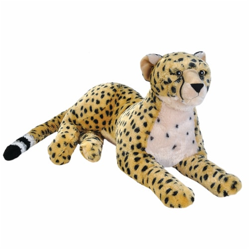 Wild Republic Cuddlekins Jumbo Cheetah Plush Perspective: front