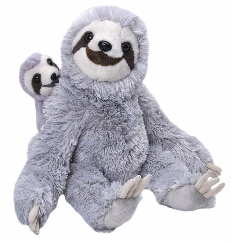 Wild Republic Mom & Baby Sloth Plush Perspective: front