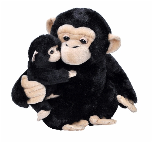 Wild Republic Mom & Baby Chimp Plush Perspective: front