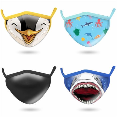 Wild Republic Assorted Aquatic Adult Face Masks Perspective: front