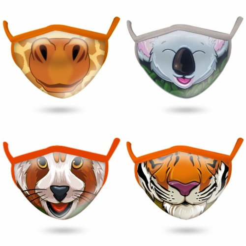 Wild Republic Animal Smiles Kids' Face Masks - Assorted Perspective: front
