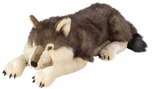 Wild Republic Cuddlekins Jumbo Wolf Plush Perspective: front