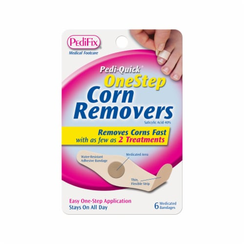 PediFix Pedi-Quick One Step Corn Remover Medicated Bandages Perspective: front