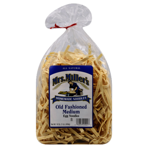 Mrs. Miller's Old Fashioned Medium Egg Noodles Perspective: front