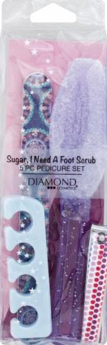 Diamond Cosmetics Sugar I Need A Foot Scrub 5-Piece Pedicure Set Perspective: front