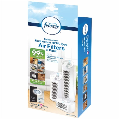Febreze Dual Action HEPA-Type Replacement Air Filters Perspective: front