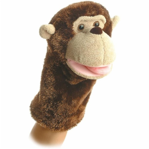 "Aurora Plush 10"" Montgomery Monkey Puppet - 02328 Perspective: front"