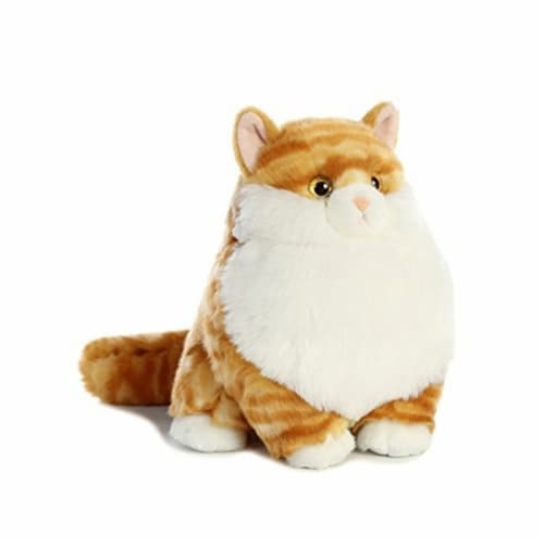 Aurora World Fat Cats Butterball Tabby Plush Perspective: front