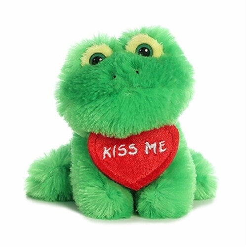 """Luv Bits 4"""" Stuffed Animal, Frog Perspective: front"""