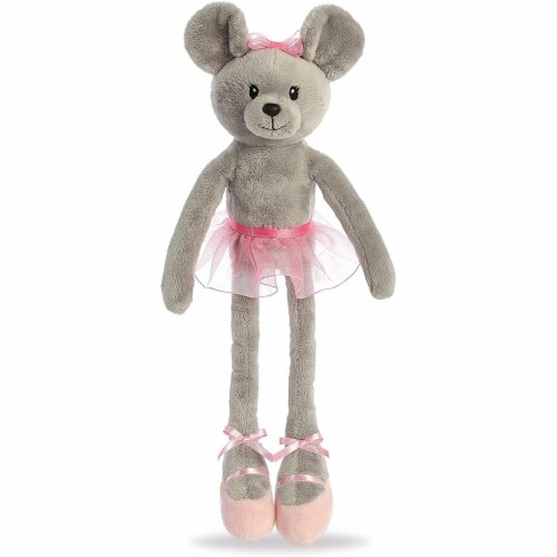 "Aurora - Easter Item - 14"" April Ballerina Mouse Plush Perspective: front"