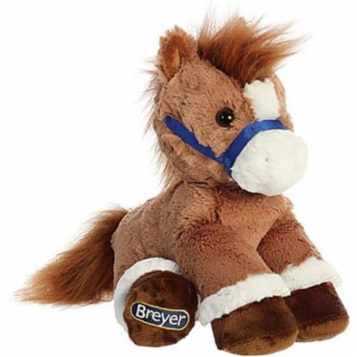 """Breyer Aurora 11"""" Chestnut Horse Plush Perspective: front"""