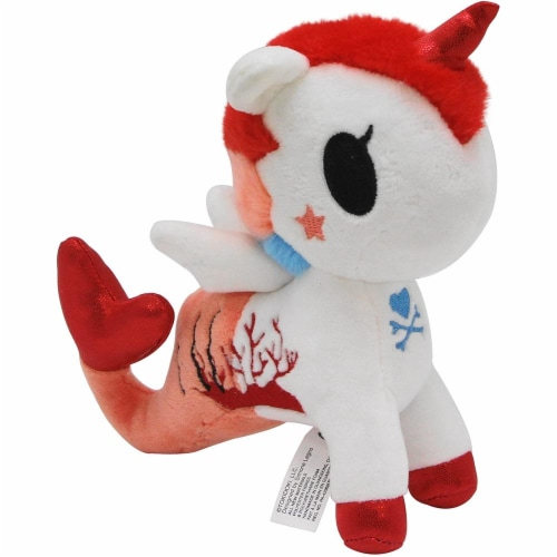 Aurora World World Tokidoki Cora Mermicorno Basic Plush, Multicolor, Small Perspective: front