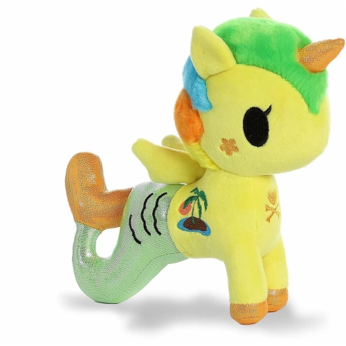 Aurora World World Tokidoki Tropica Mermicorno Basic Plush, Multicolor, Small Perspective: front