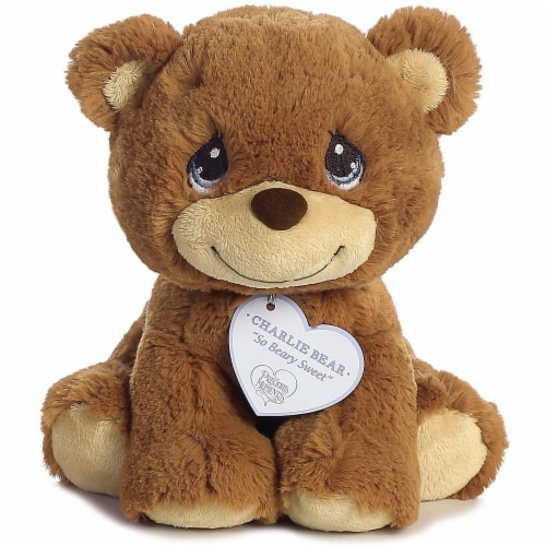 "Aurora World Precious Moments So Beary Sweet Charlie Bear Plush, 8.5"", Brown Perspective: front"