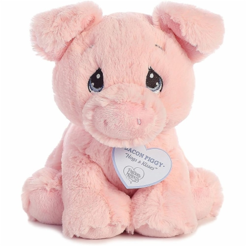 Bacon Piggy 8 inch - Baby Stuffed Animal by Precious Moments (15703) Perspective: front