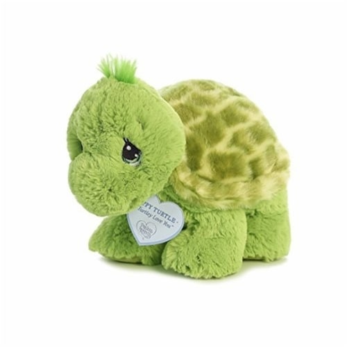 Zippy Turtle 8 inch - Baby Stuffed Animal by Precious Moments (15703) Perspective: front