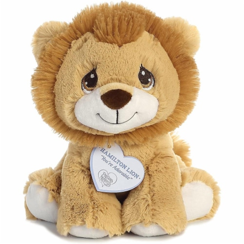 Hamilton Lion 8 inch - Baby Stuffed Animal by Precious Moments (15710) Perspective: front
