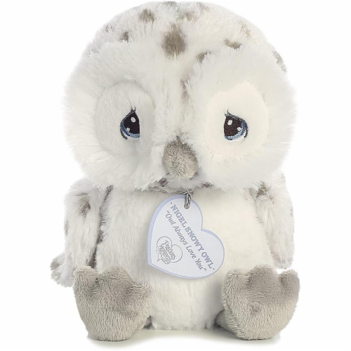 Nigel Snow Owl 8 inch - Baby Stuffed Animal by Precious Moments (15712) Perspective: front