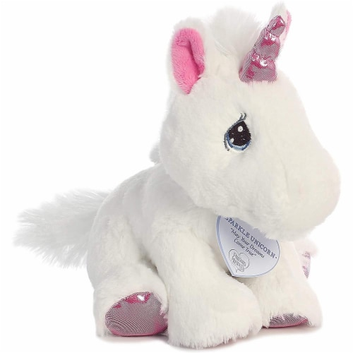 Sparkle Unicorn 8 inch - Baby Stuffed Animal by Precious Moments (15713) Perspective: front