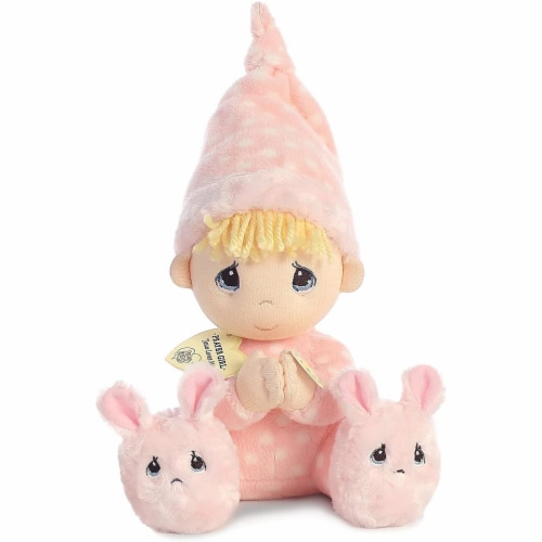 Aurora World Precious Moments Prayer Girl With Sound Now I Lay Me Down To Sleep Plush Perspective: front