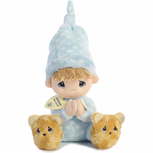 Aurora World Precious Moments Prayer Boy With Sound Now I Lay Me Down To Sleep Plush Perspective: front