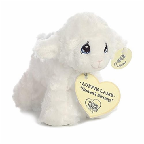 "Precious Moments Luffie Lamb ""Heaven's Blessing"" Rattle (White) Perspective: front"