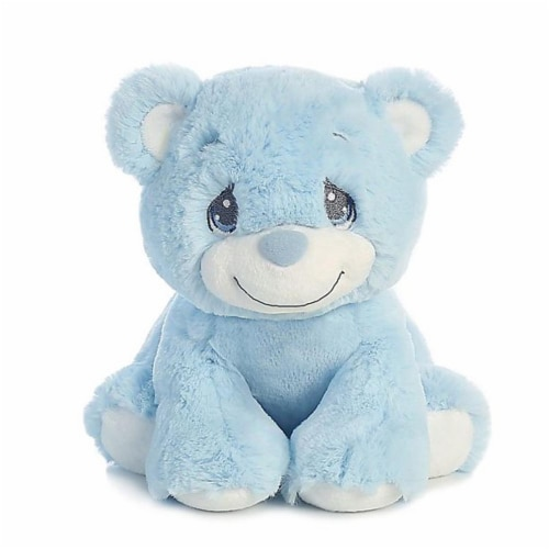 "Aurora World Precious Moments Charlie Bear With Rattle So Beary Sweet Plush, Blue, 8.5"" Perspective: front"