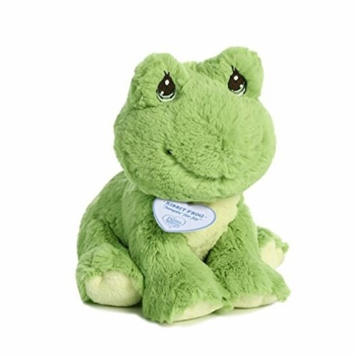 Ribbit Frog 8.5 inch - Stuffed Animal by Precious Moments (15750) Perspective: front