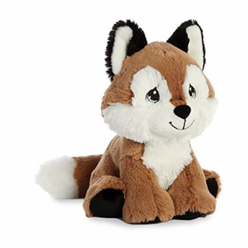 Aurora World Precious Moments Plush Toy, Smarty Fox Perspective: front