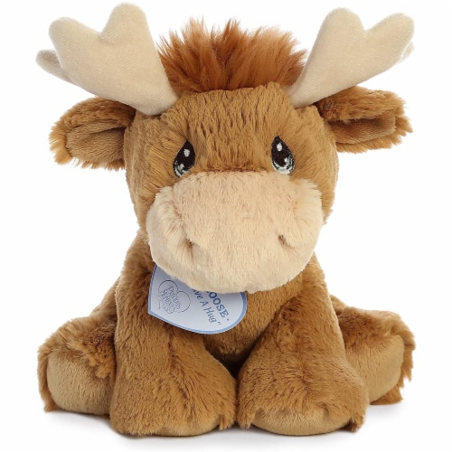 Aurora World Precious Moments Plush Toy, Monty Moose Perspective: front