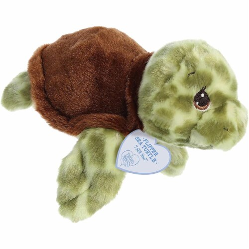 Flipper 8.5 inch - Sea Turtle Stuffed Animal by Precious Moments Perspective: front