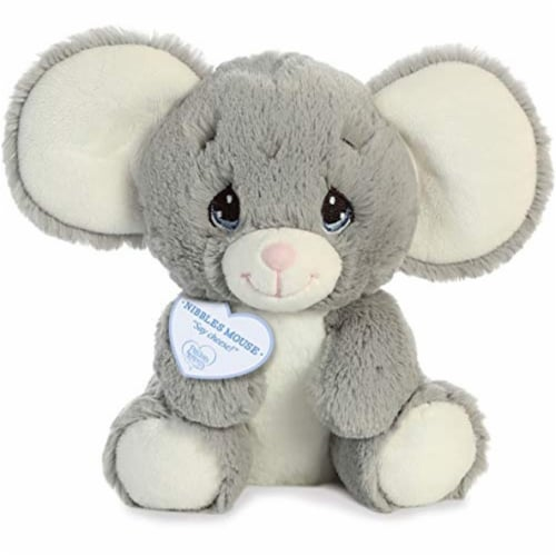 "Precious Moments 8.5"" Nibbles Mouse Stuffed Animal Perspective: front"