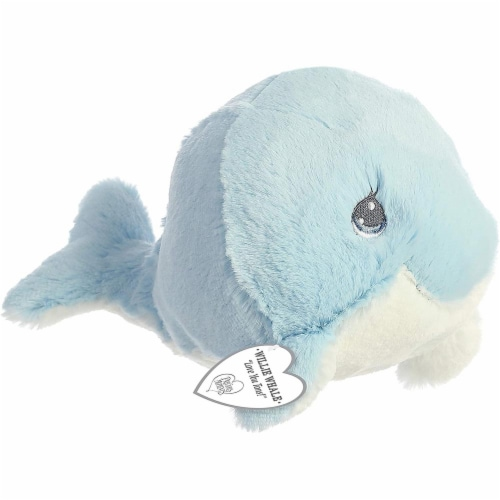 """Aurora - Precious Moments - 8.5"""" Willie Whale Blue Plush Perspective: front"""